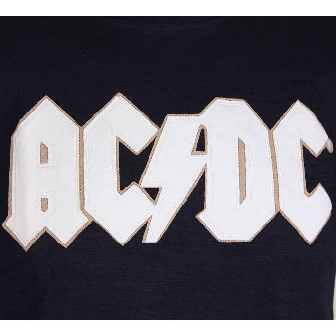 AC//DC /'Logo And Angus/' Applique Slub T-Shirt NEW /& OFFICIAL!